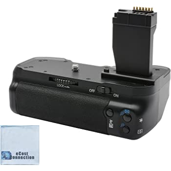 T6i /& T6s with 2 Replacement Batteries /& AC//DC Travel Charger Canon BG-E18 Battery Grip for Canon EOS Rebel SL2