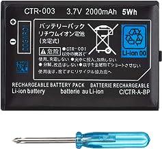 OSTENT 2000 Mah 3,7V CTR 003 Bateria para Nintendo 3DS 2DS