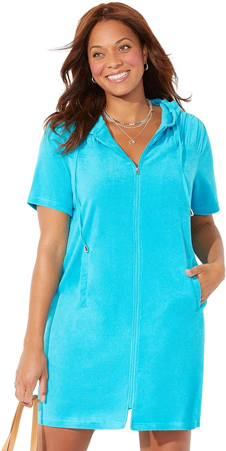 Swimsuits 正規逆輸入品 デポー for All Women's Plus Size Cover Alana Ho Up Terrycloth