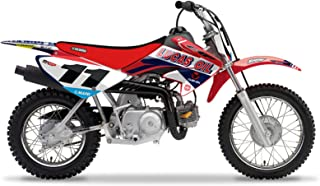Enjoy MFG Graphics Kit and Number Plate Decals are a Compatible Fit for the 2004-2006 Honda CRF 70 24MX / Lucas Oil