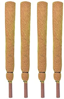 COIR GARDEN Coco Pole Moss and Coir Stick for Money Plant Support, 3ft, Brown - Pack of 4 Pieces