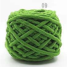 Ovillo de lana de algodón de 100 g y 14 mm para tejer bufandas y bufandas de colores, 9, the size, 1