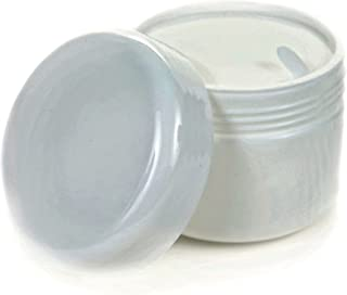 Vivaplex, 24, White, 2 oz Cosmetic Jars, with Liners and Dome Lids