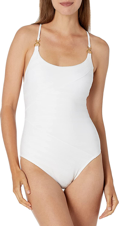 La Blanca Women's Standard Rouched Body Lingerie Mio One Piece Swimsuit