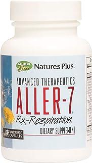 NaturesPlus Advanced Therapeutics Aller-7 Rx-Respiration - 60 Vegetarian Capsules - Supports Respiratory Wellness - Gluten...
