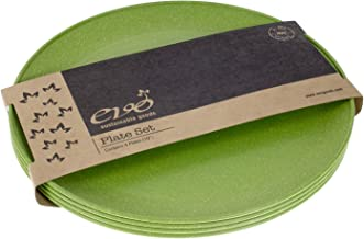 """EVO Sustainable Goods 10"""" Plate, Set of Four, Green"""