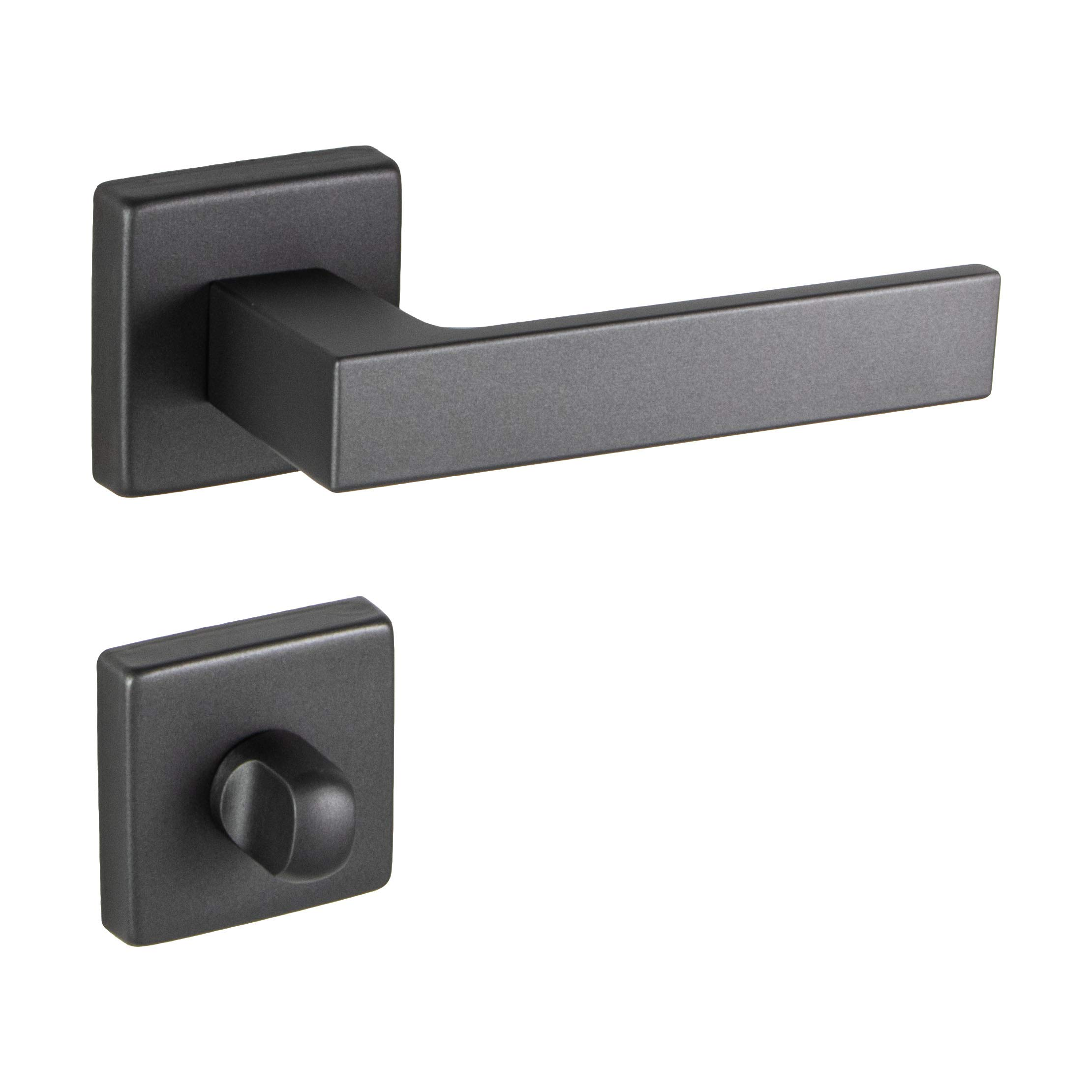 Juva Door Handles Push 1317 Durable Aluminium Handle For Bathroom Doors Modern Ergonomic Design Aluminum Anthracite For Door Sizes 35 47 Mm Thickness Amazon Co Uk Diy Tools