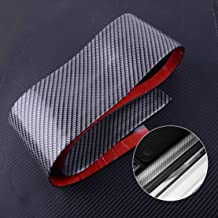 Universal Car Door Plate Protector Carbon Fiber Sticker 1M X 10Cm Rubber Strip Scuff Sill Cover Panel Step Protectors