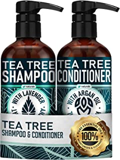 Sponsored Ad - Naturala Tea Tree Shampoo and Conditioner Set - Sulfate Free Shampoo and Conditioner Set for Dry Hair and S...