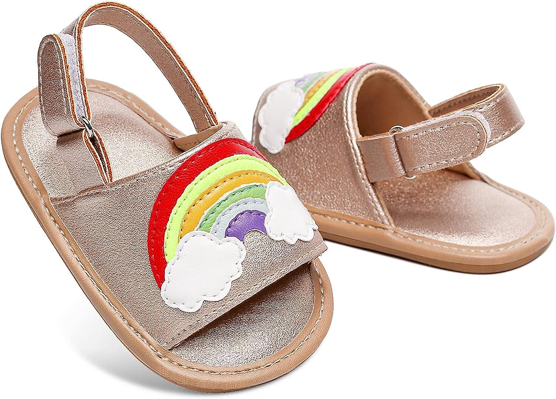 Baby Girls Sandals Infant Summer Shoes Boys First Walker Toddler Soft Sole Beach Slipper