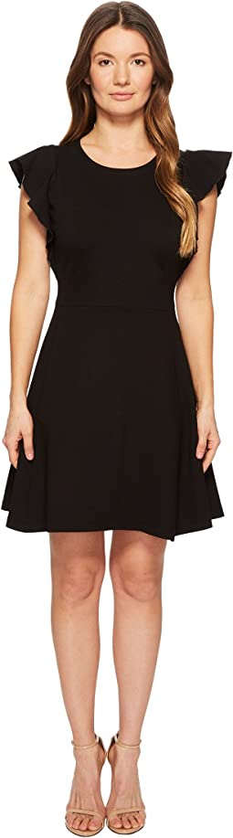 Kate Spade New York - Flutter Ponte Dress
