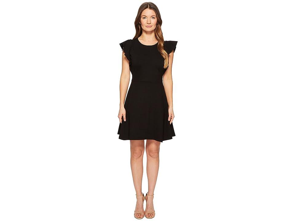 Kate Spade New York Flutter Ponte Dress (Black) Women