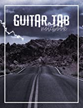 Guitar Tab Notebook: Highway Storm Blank Sheet Music with 6-String Guitar Tablature and Staffs or Staves for Songwriters, Musicians, and Theory Students with Large Sheets