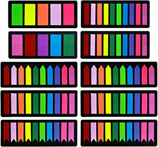24Sheets Multi-Color PVC Sticky Index Tabs Stickers Writable Self Adhesive Pop up Index Label Colored Reading Tabs for File Identification Personalized Notebooks Small