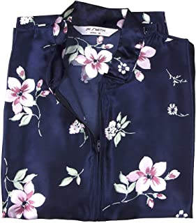JH Smith Women's Kaftan Satin Gown, Casual Evening Wear, Half-Sleeve Nightgown Sleepwear.