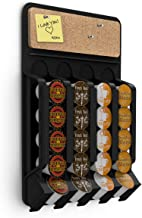 Mind Reader WMNT-BLK Fridge,Wall-Mount K-Cup Single Serve Coffee Pod Dispenser with Cork Top, Black