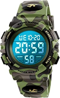 Kids Digital Watch, Boys Sports Waterproof Led Watches Camouflage Watches with Alarm Wrist Watches for Boy Girls Children