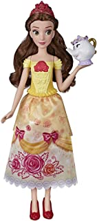 "Disney Princess Shimmering Song Belle, Musical Fashion Doll, Toy with Removable Fashion, Mrs. Potts Sings ""Beauty and the ..."