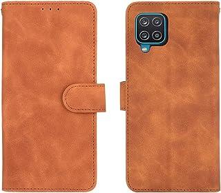 GOGME Leren hoesje voor Samsung Galaxy A12 / M12 hoesje, retro stijl PU/TPU portemonneehoesje, collectie premium folio cov...