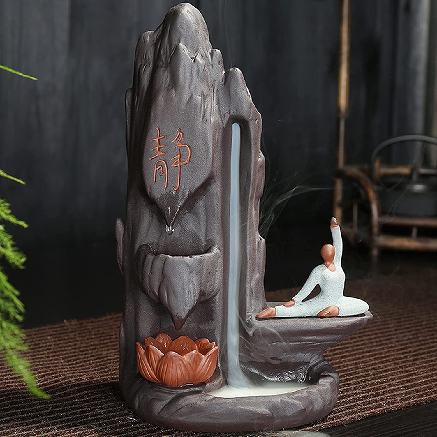 XDYFF Incense Latest item Burner Holder Waterfall Ceramic Woman Statue Cheap mail order specialty store Yoga
