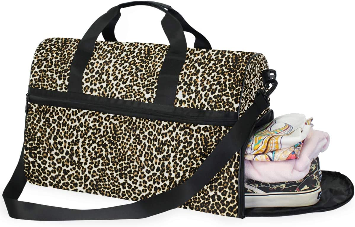 Seamless All items free shipping Sale SALE% OFF Leopard Print Personalized Large With Bag Duffle Shoes