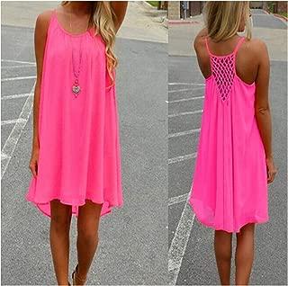 Ashley-OU Fluorescence Summer Dress Chiffon Voile Dress 2019 Summer Style Women Clothing Plus Size