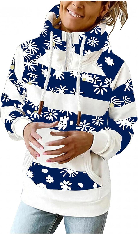 Zip Up Hoodie for Women Women Plus Size Plaid Striped Long Sleev