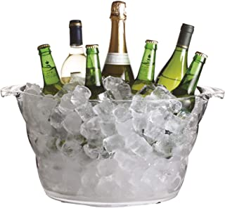 BarCraft Large Drinks Cooler Bucket, Acrylic, 10 L