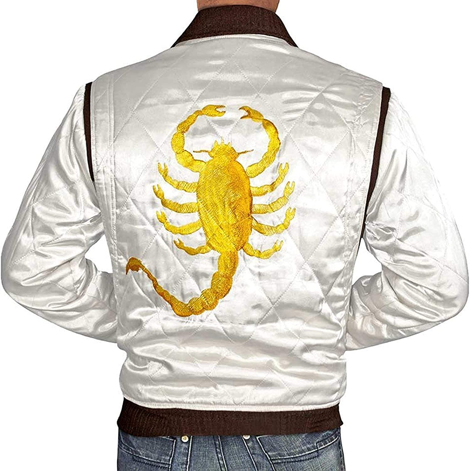 Blingsoul Quilted Style Lightweight Satin Bomber Jacket Men ►Premium Quality◄