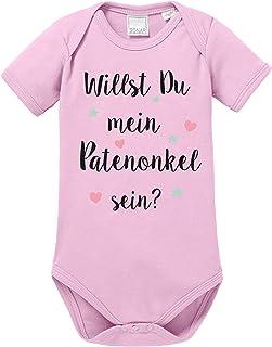 Ezyshirt Willst du Meine Patentante Sein | Strampler Patenschaft | Patenkind Body Baby Kurzarm Bio Baumwolle