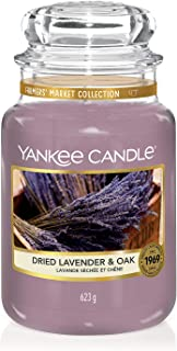 Yankee Candle Large Jar Scented Candle, Dried Lavender and Oak, Farmers' Market Collection