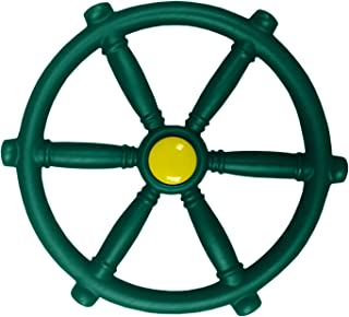 Swing-N-Slide WS 1524 Pirate Ship Wheel with 12 Inch Diameter for Swing Sets, Play Sets & Playhouses, Green