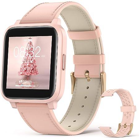 Smartwatch Donna, Hommie Orologio Smartwatch Donna Touchscreen da 1.3 Pollici, Orologio Fitness Donna per Cardiofrequenzimetro da Polso,Smartwatch Donna Samsung,Smartwatch Donna Huawei,Smartwatch Rosa