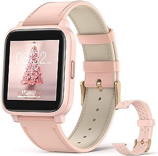"""Hommie Smartwatch Mujer, Reloj Inteligente Mujer 1.3"""" Táctil Completa, Pulsera Actividad Mujer IP68 con 17 Deportes, Pulsó..."""