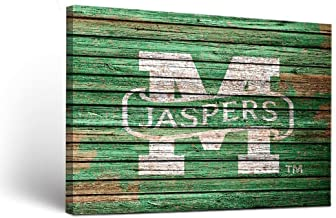 Victory Tailgate NCAA Manhattan College Jaspers Weathered Canvas Wall Art, Multicolor, 24