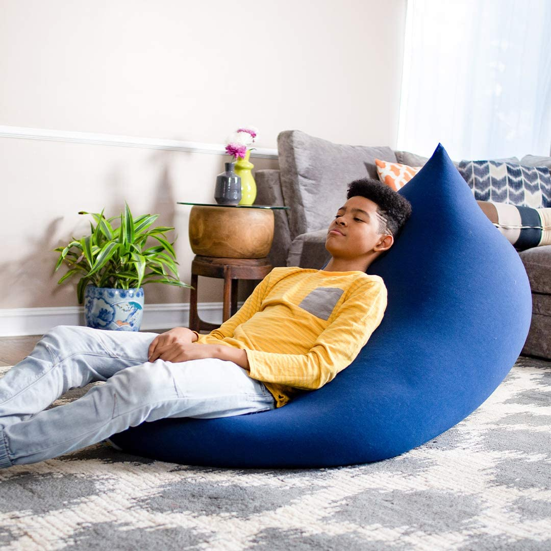 Plush Adults Yogibo Short Bean Bag Chair for Teens Washable Outer Cover Removable Soft Lounge Beanbag for Gaming and Relaxing Reading Coral
