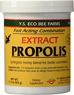 YS Eco Bee Farms Propolis Extract in Honey 11.4 oz jar (Pack of 3)