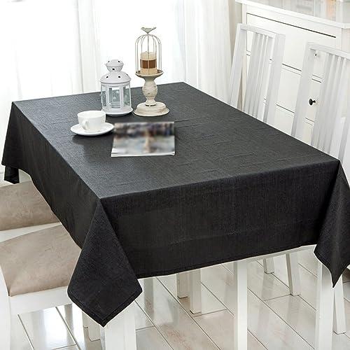 Tablecloth.A ASL Leinen Tuch Tischdecke Solid Farbe wasserdichte Flachs Einfache Tagung Tischdecke Couchtisch Abdeckung Stoff w en (Größe   130  25cm)