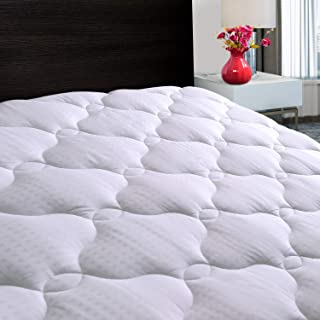Asrisuk Full Mattress Pad Cover Cooling Mattress Topper Cotton Quilted Fitted Pillow Top with Snow Down Alternative Fill Stretches up 8-21