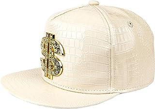 قبعة هيب هوب، قبعة مسطحة ذات حافة مطوية، قبعة صخور، قبعة سناباك قابلة للتعديل للرجال والنساء