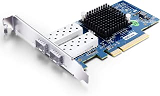 10Gb PCI-E NIC Network Card, Dual SFP+ Port, PCI Express Ethernet LAN Adapter Support Windows Server/Linux/VMware, Compare...