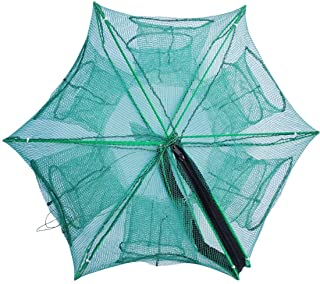 Drasry Fishing Bait Trap Foldable Fish Minnow Crab Crayfish Crawdad Shrimp Net Trap Cast Net Dip Cage Collapsible Easy Use...