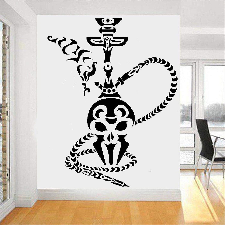 SUPWALS Shisha pegatinas de pared de la oficina decoración de la pared de la cachimba humo fumar café árabe vinilo calcomanías de pared hombre cueva decoración de la habitación
