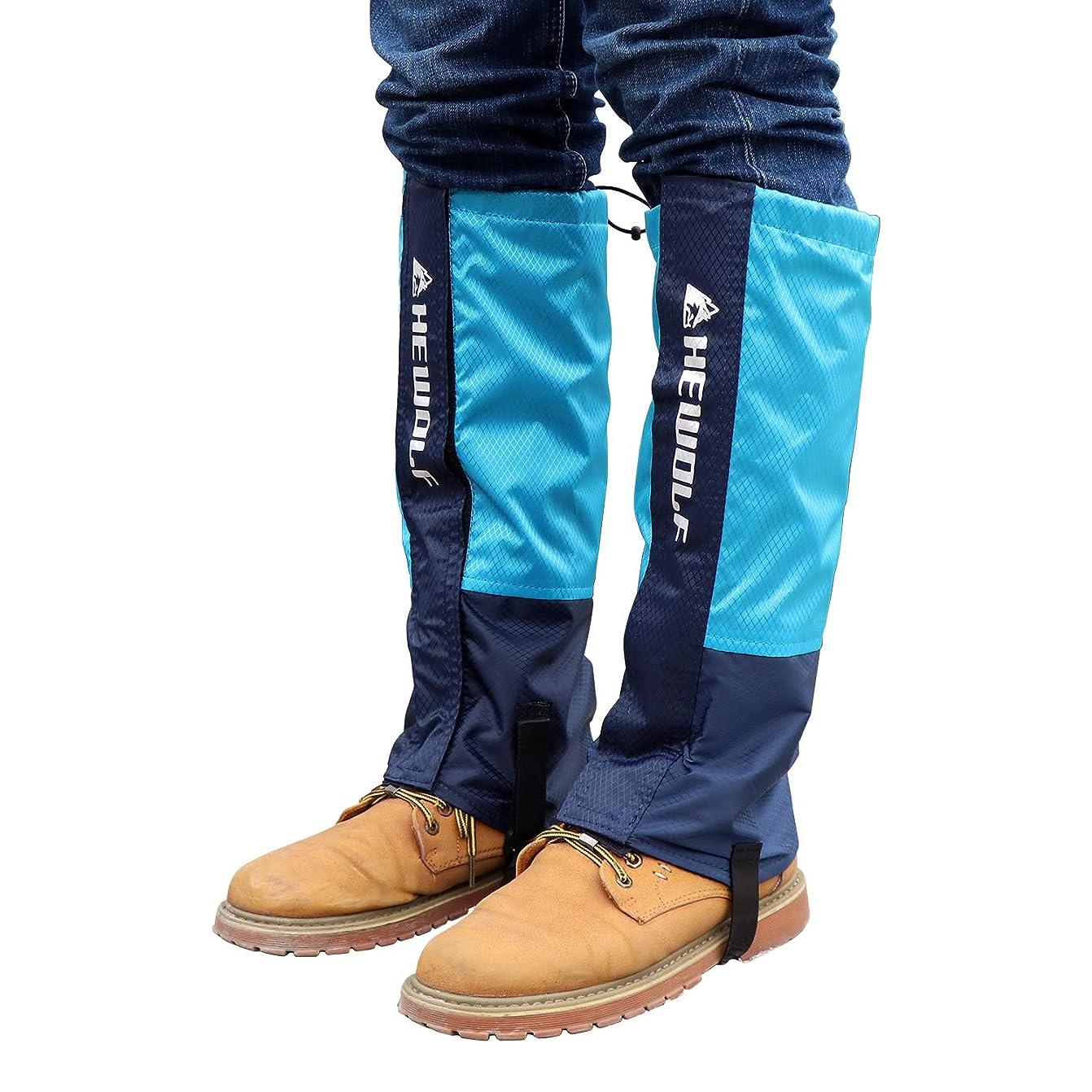 イベントスリチンモイ獲物スパッツ 登山ゲイター ューズカバー 防水 泥除け 雨よけ 靴カバー 防水靴 収納袋付き 雪対策 男女兼用?? 2タイプL/M トレッキング アウトドアに適用 3色選べ 厚いと通気