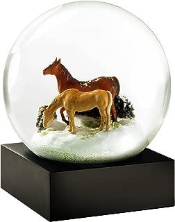 CoolSnowGlobes Horses Cool Snow Globe