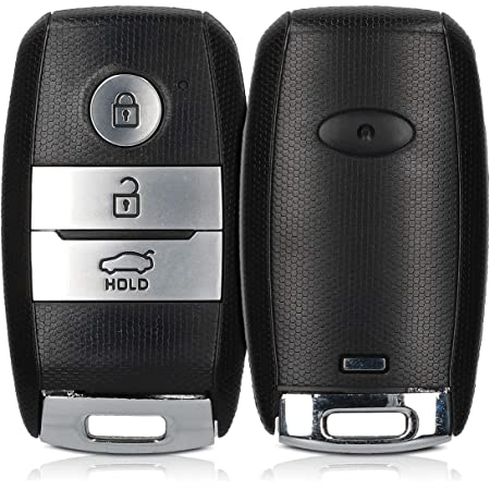 Kwmobile Autoschlüssel Gehäuse Kompatibel Mit Kia 3 Tasten Smartkey Autoschlüssel Ohne Transponder Batterien Elektronik Auto Schlüsselgehäuse Schwarz Auto