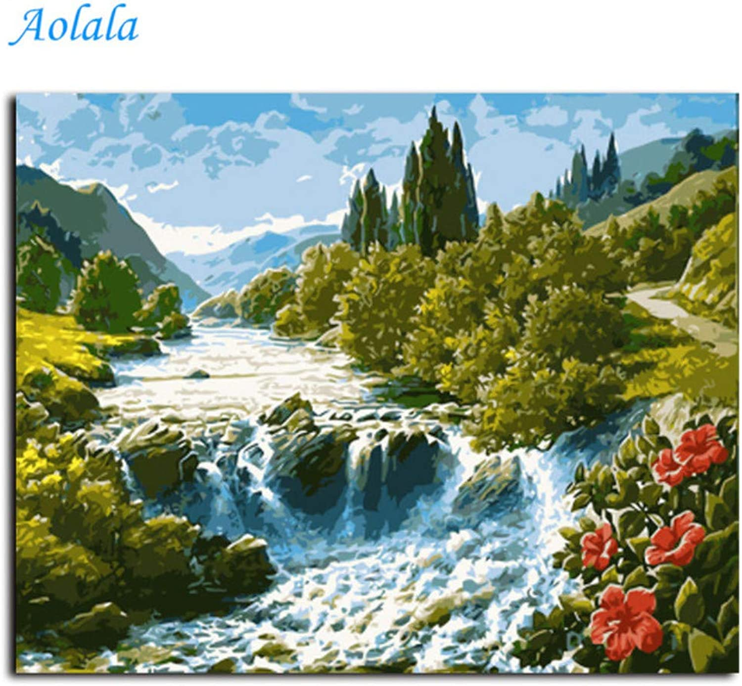 Landscape Pictures Painting by Numbers Wall Art DIY Canvas Oil Painting Home Decor,50x65cm