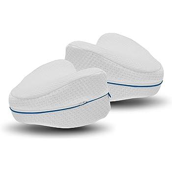 Mediashop Dreamolino Leg Pillow 2 Stück – ergonomische Seitenschläferkissen für optimale Unterstützung – Memory Foam Kissen für Seitenschläfer für