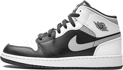 Jordan Air 1 Mid Black/White-Lt Smoke Grey Youth 554725 073 - Size