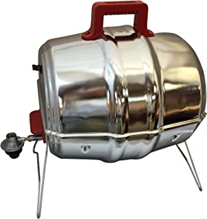 Keg-a-Que Gas Grill with Red Bake Lite Handles